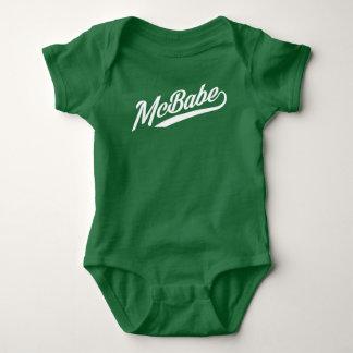 McBabe - WHITE INK Baby Bodysuit