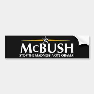 McBush Anti-McCain Bumper Sticker