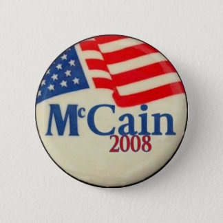 McCain 2008 Flag Button