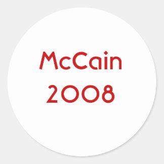 McCain 2008 Round Sticker
