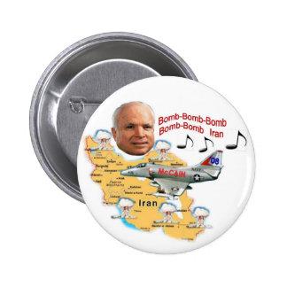 McCain Bomb Iran Button