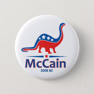 McCain, Brontosaurus 2 Inch Round Button