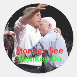 McCain Bush Hug Sticker