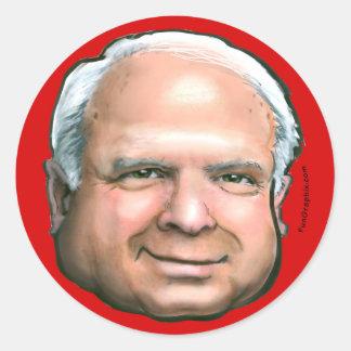 McCain Button Round Sticker