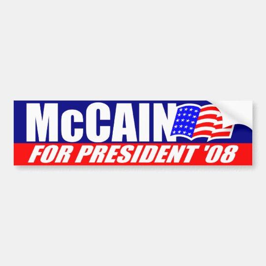 McCain For President 2008 Bumper Sticker