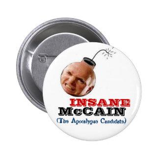 McCain Insane Bomb-Head Button