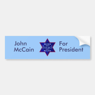McCain ISRAEL Supports Bumper Sticker