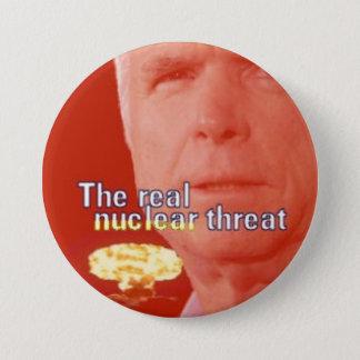 McCain Nuclear Threat 3-Inch Button