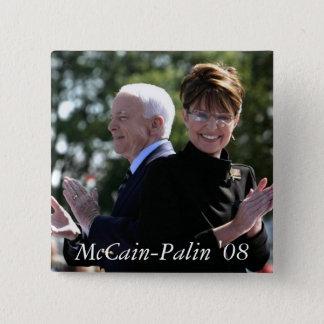 McCain-Palin '08 2 Inch Square Button