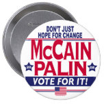 McCain Palin 2008 4 Inch Round Button