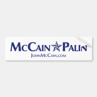 McCain-Palin Bumper Sticker