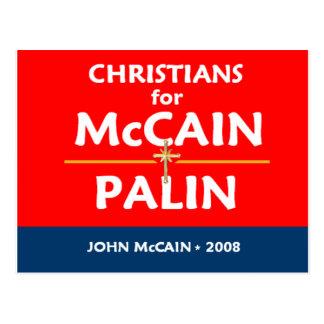 McCain Palin Christians Postcard
