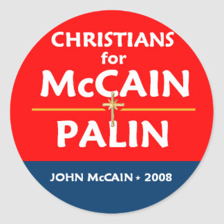 McCain Palin Christians Sticker