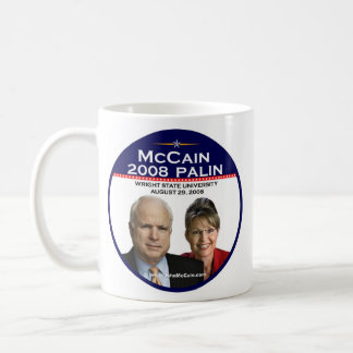 McCain Palin Commemorative Wright State University Coffee Mug