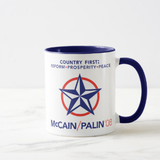 McCain/Palin Country First Star Mug