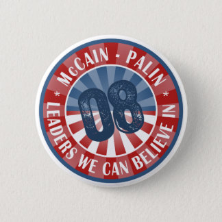 McCain Palin Leaders we can believe in 2 Inch Round Button