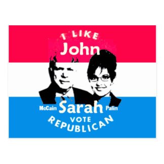 McCain Palin Postcard