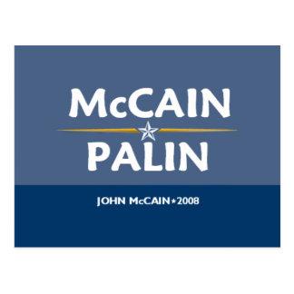 McCain Palin Pres VP Postcard