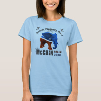 McCain Palin Reform Prosperity Peace Womens Shirt