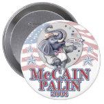 McCain Palin Republican Elephant 4 Inch Round Button