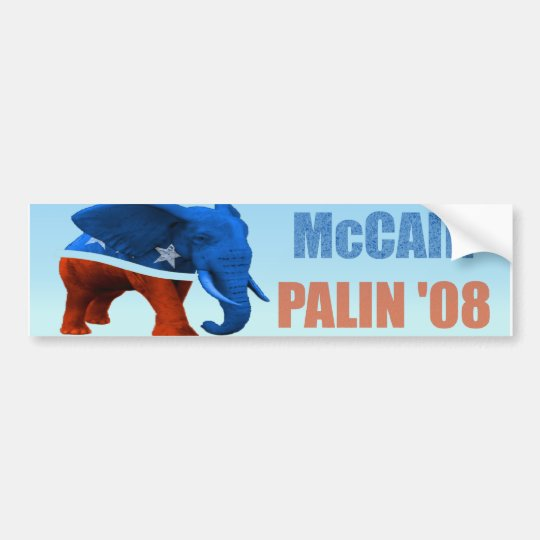 McCain Palin Republican Logo Car Bumper Sticker