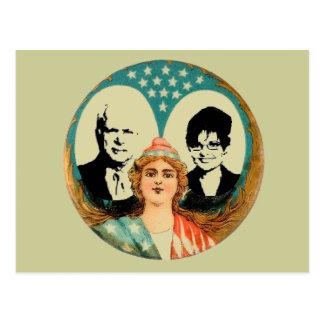 McCain Palin Retro Postcard