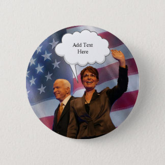 MCCain Palin Speaks 2 Inch Round Button