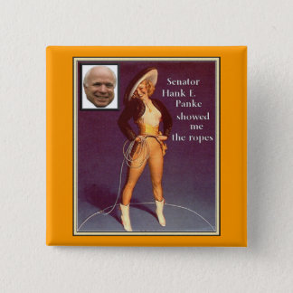 McCain Pinup cowgirl Button