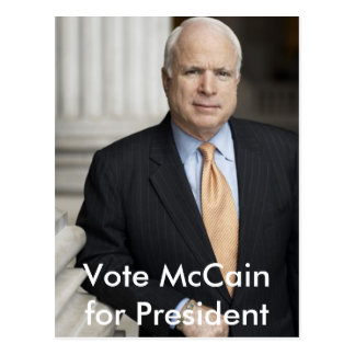 mccain, Vote McCain for President postcard