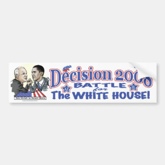 McCain vs Obama 2008 Battle Bumper Sticker