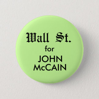 McCain WALL ST. Button