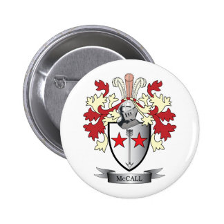 McCall Family Crest Coat of Arms 2 Inch Round Button