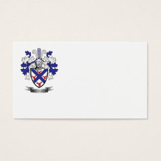 McCallum Family Crest Coat of Arms Business Card