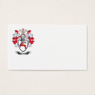 McCarthy Coat of Arms Business Card