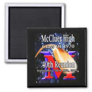 McCluer High Class of '70 40th Reunion Magnet