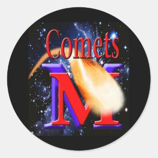 McCluer High Comet Logo on Starfield Classic Round Sticker