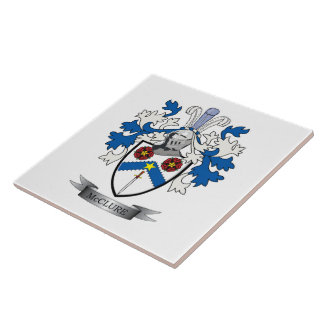 McClure Family Crest Coat of Arms Ceramic Tile