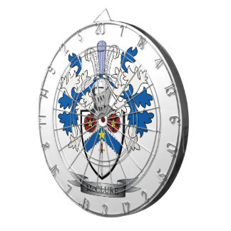 McClure Family Crest Coat of Arms Dartboard