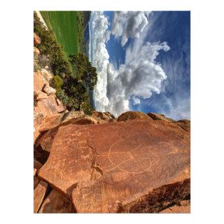 Mcconkie Ranch Petroglyph - Utah Personalized Letterhead