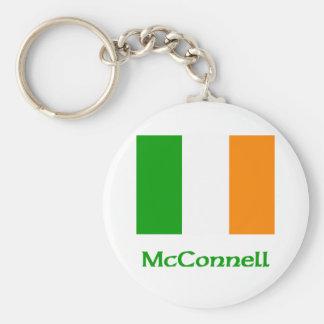 McConnell Irish Flag Basic Round Button Keychain