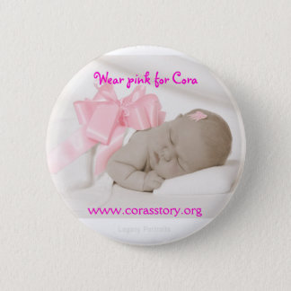 McCormick 8240  S  IG, Wear pink for Cora, www.... 2 Inch Round Button