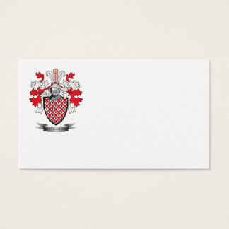 McCullough Family Crest Coat of Arms Business Card