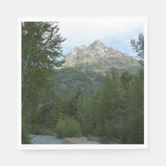 McDonald Creek at Glacier National Park Disposable Napkin