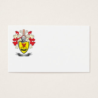 McDonald Family Crest Coat of Arms Business Card