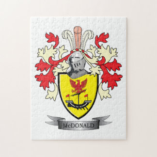 McDonald Family Crest Coat of Arms Jigsaw Puzzle