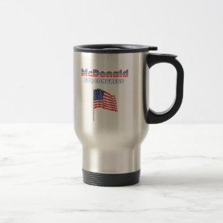 McDonald for Congress Patriotic American Flag 15 Oz Stainless Steel Travel Mug