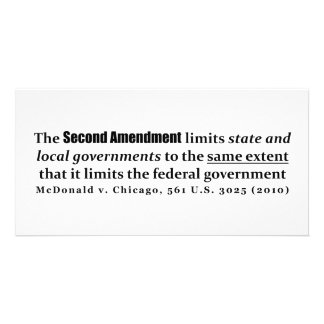 McDonald v. Chicago, 561 U.S. 3025 (2010) Picture Card