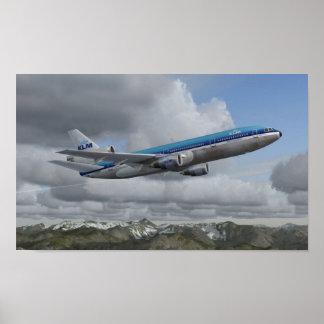 McDonnell Douglas DC-10 KLM Royal Dutch Airlines Poster