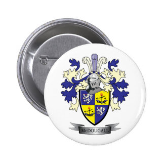 McDougall Family Crest Coat of Arms 2 Inch Round Button