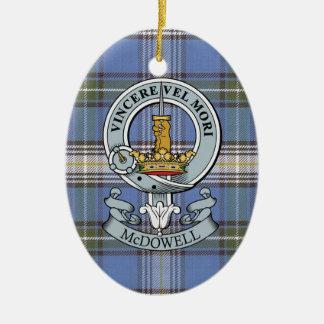 McDowell Crest + Tartan Oval Ornament